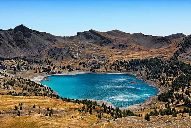 Allos Lake (Lac D'Allos) stock photo