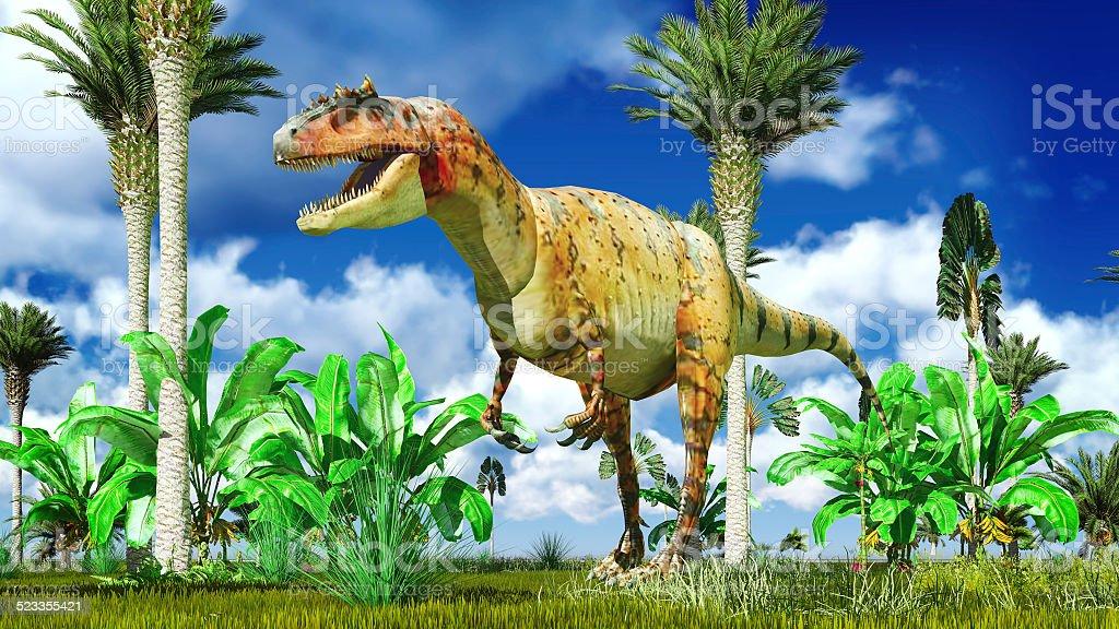 Allosaurus fragilis stock photo