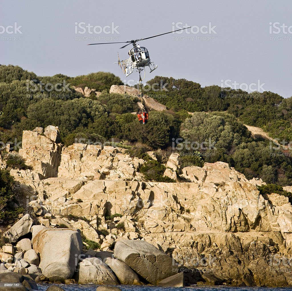 Allouette Lama firefighting helicopter royalty-free stock photo