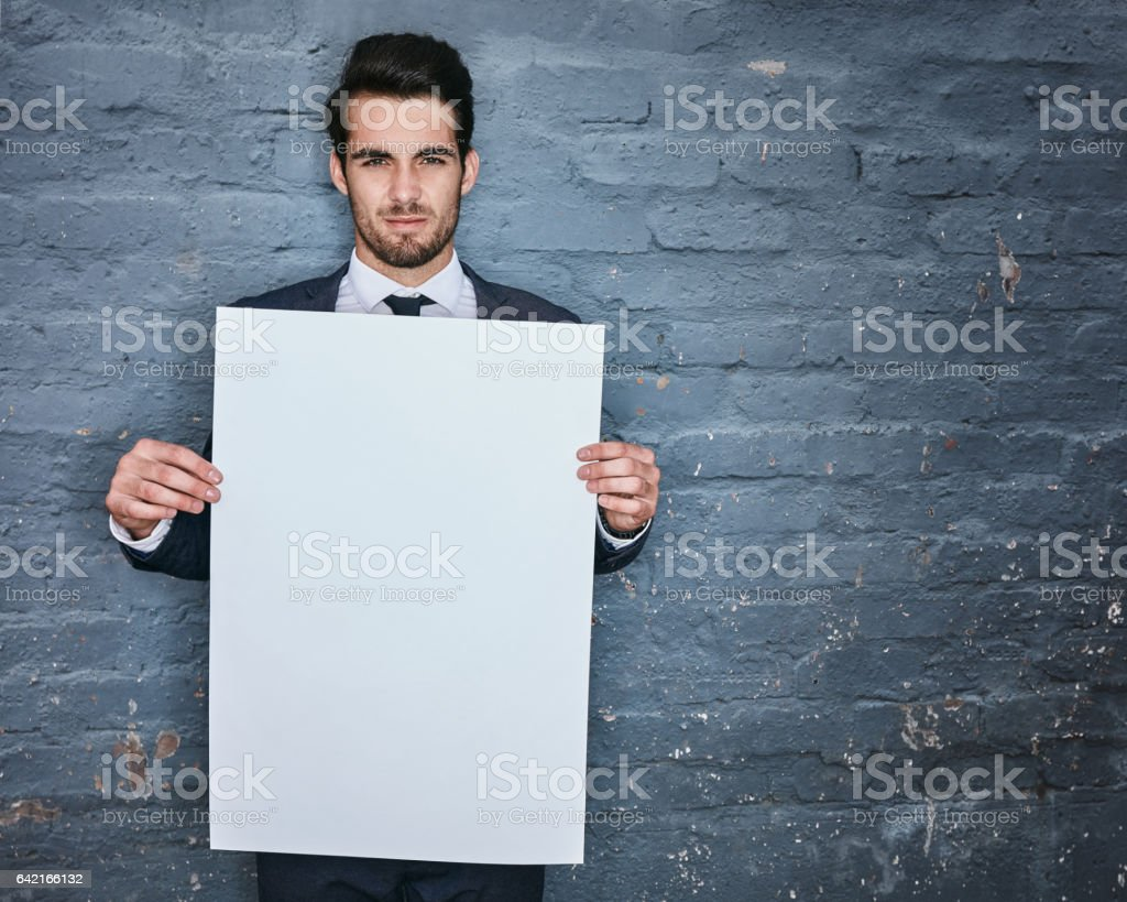 Allow me to convey your message stock photo