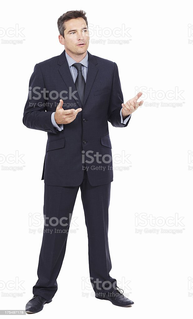 Allow me to explain... stock photo