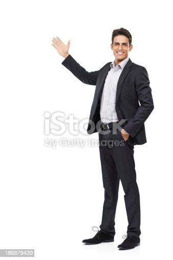 istock Allow me to introduce your copyspace 186879439