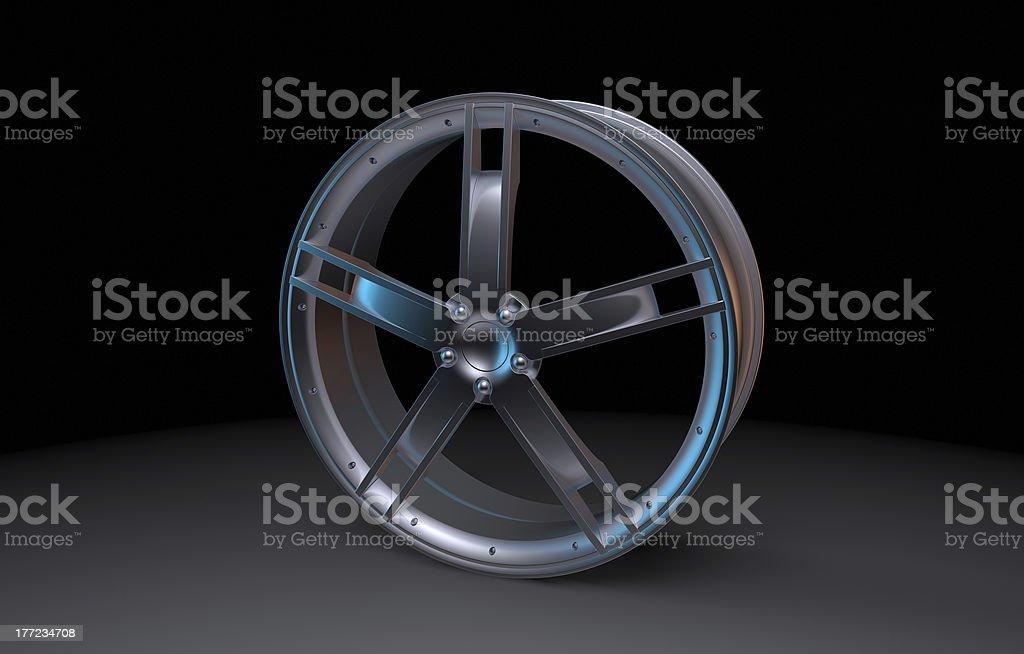 Allow Wheel on Dark Background stock photo