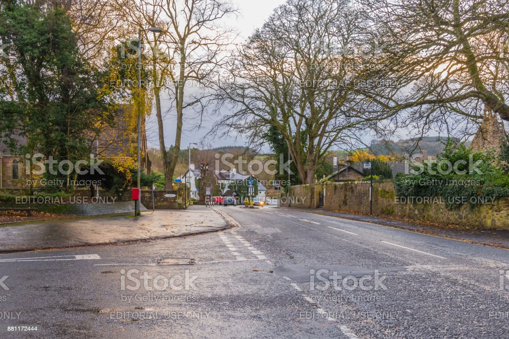 Alloway Town & Brig o' Noon Hotel stock photo