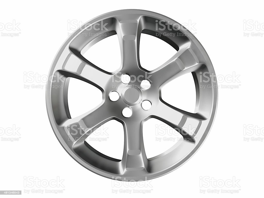 Alloy car rim with six spokes royalty-free stock photo