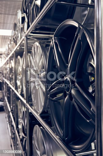 496485590 istock photo Alloy car wheels in a store 1203583039