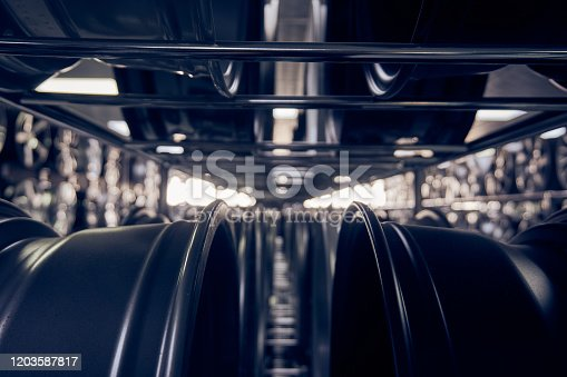 496485590 istock photo Alloy car wheels in a store 1203587817