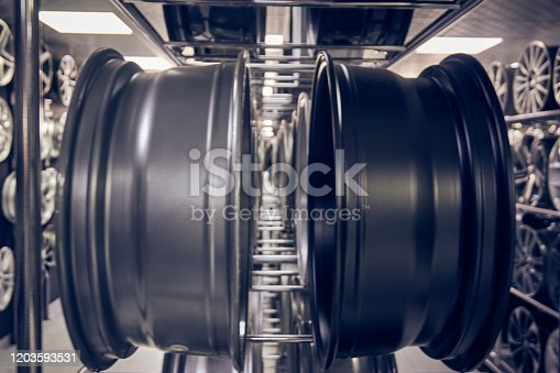 496485590 istock photo Alloy car wheels in a store 1203593531