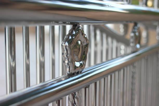 aluminium zaun - alu zaun stock-fotos und bilder