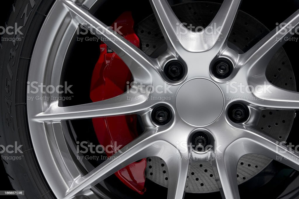 Alloy Rim with Perforated Disc stock photo