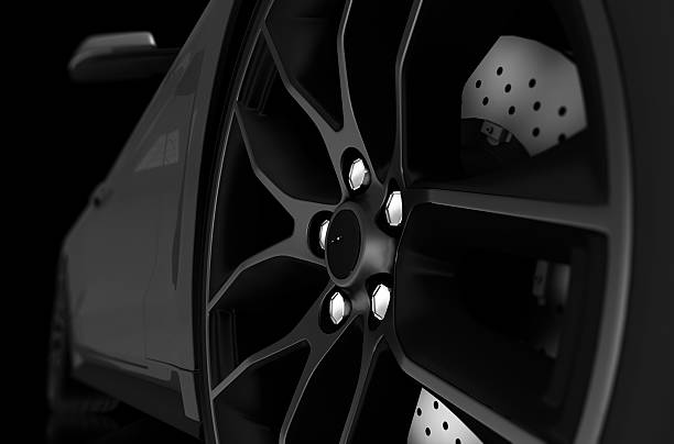 Alloy Wheel Closeup stock photo