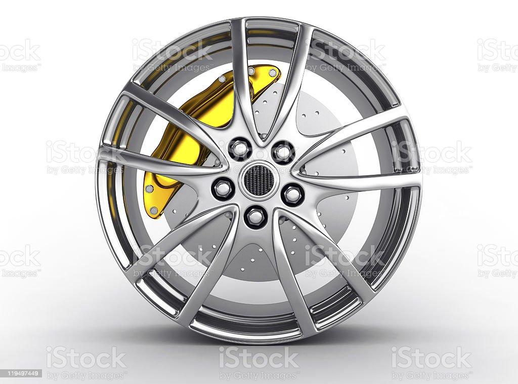 Alloy wheel royalty-free stock photo