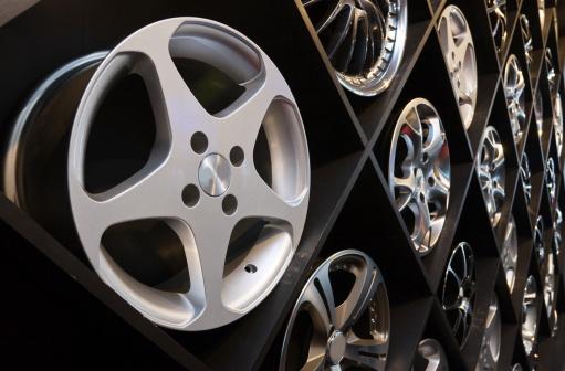 istock Alloy wheel 134955706