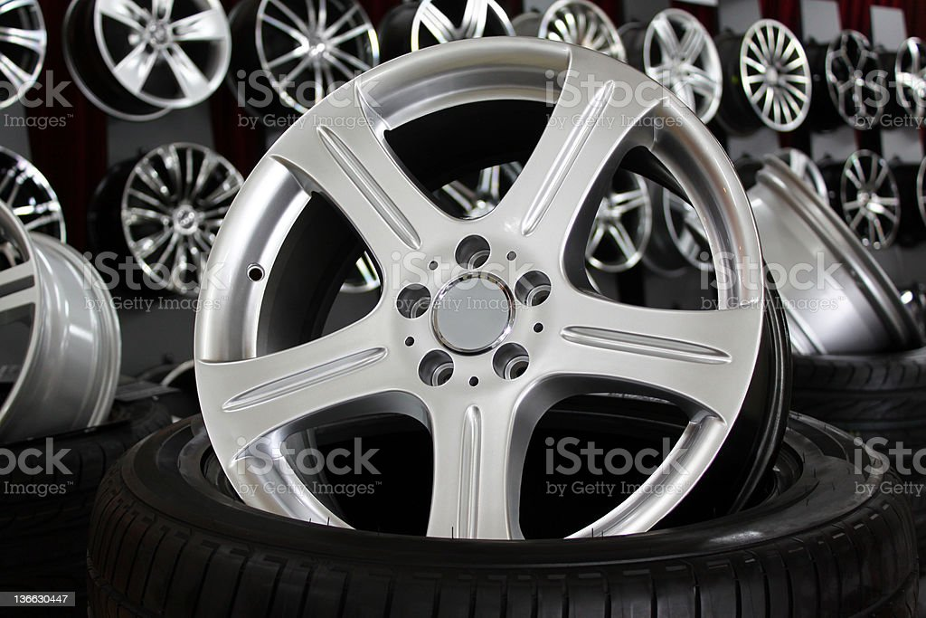 Alloy wheel royalty-free stock photo