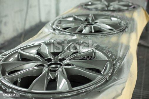 istock Alloy wheel refurbishment 459906517