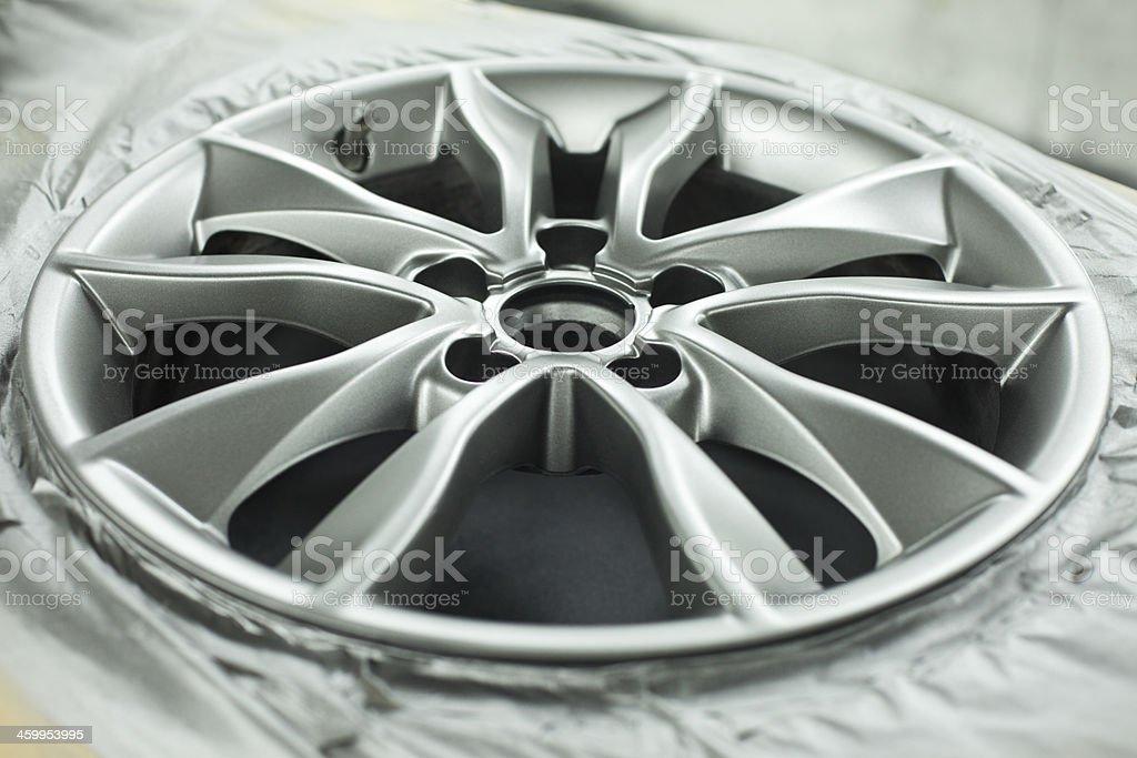 Alloy wheel refurbishment royalty-free stock photo