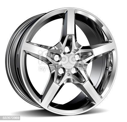 isolated alloy wheel rim isolated on white