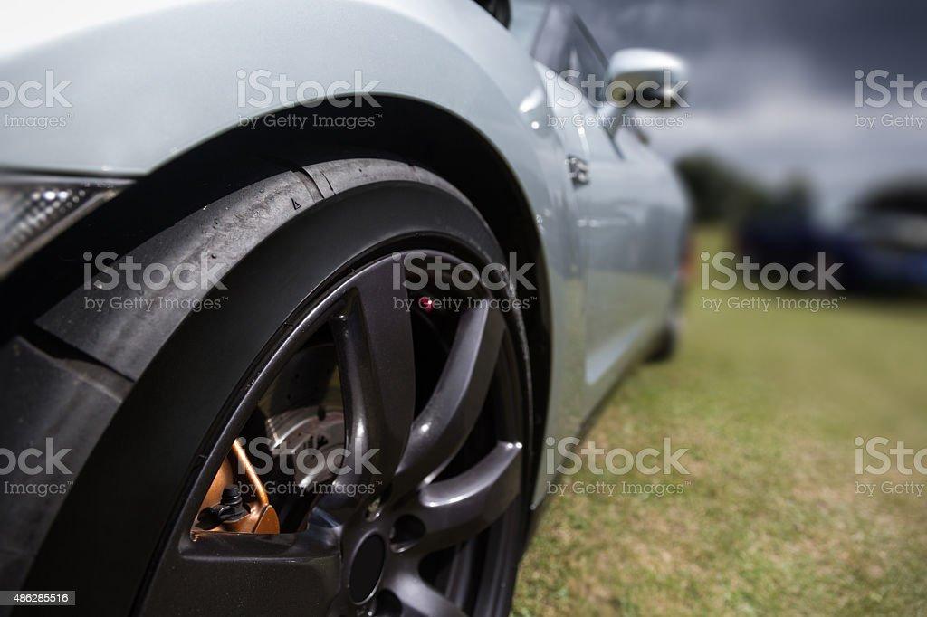 Alloy Wheel Sport Car stock photo