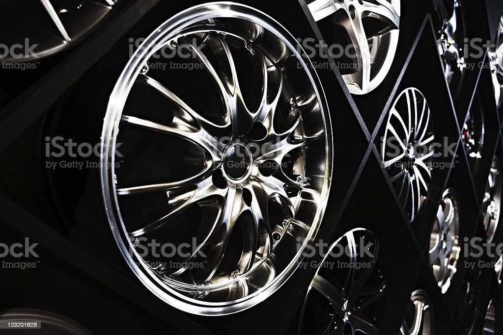 Alloy wheels stock photo