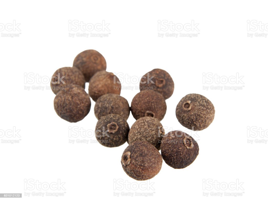 Allspice on white stock photo