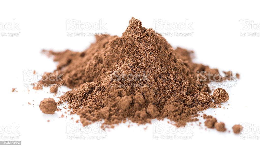 Allspice Powder (isolated on white) stock photo