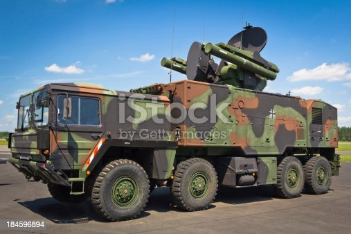 The Roland 2 - 8x8 all-terrain truck with  short-range surface-to-air missile. The Roland - Franco-German mobile short-range surface-to-air missile (SAM) system. The Roland was also purchased by the U.S. Army as one of very few foreign SAM systems