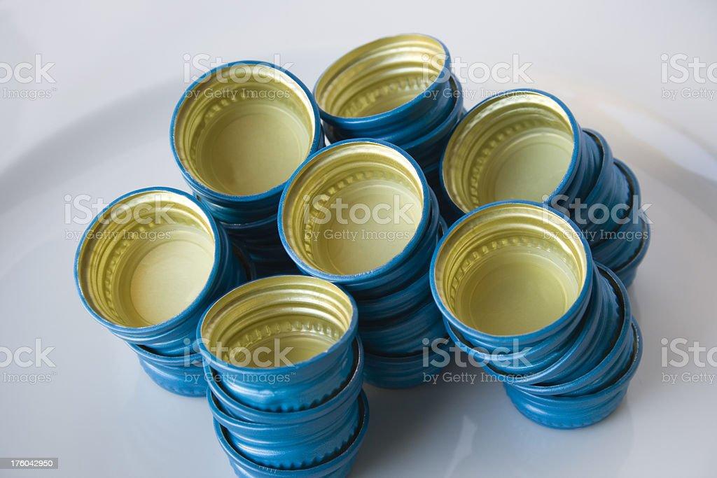 alluminium bottle caps royalty-free stock photo
