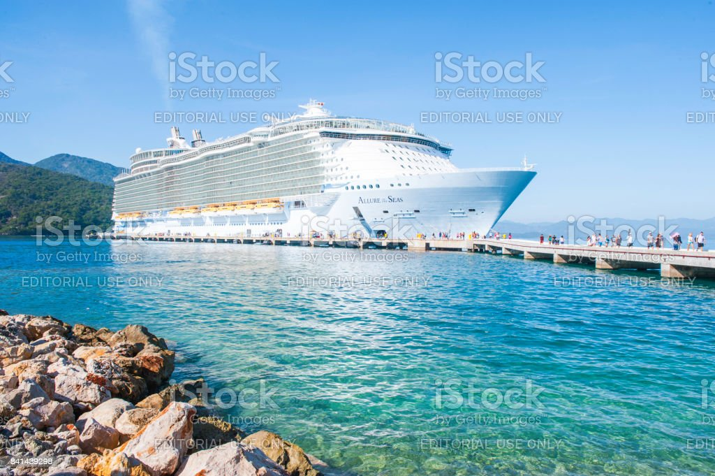 Allure of the Seas in Haiti stock photo
