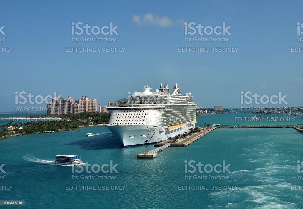 Allure of the Seas in Nassau stock photo