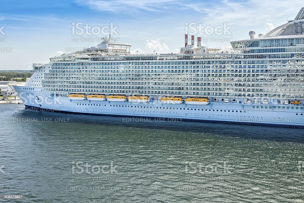 Allure of the Seas stock photo