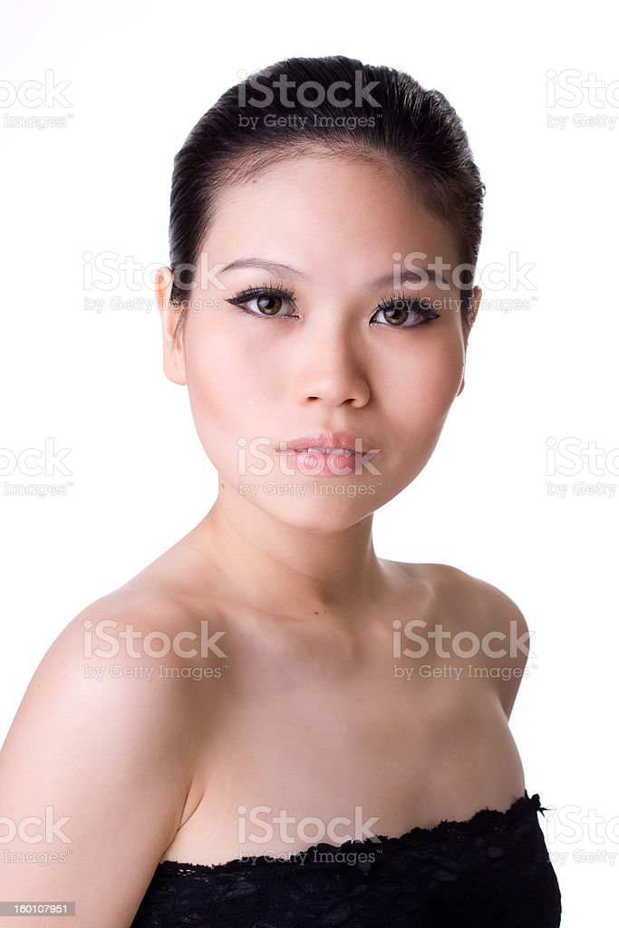 alluring asian female stock photo