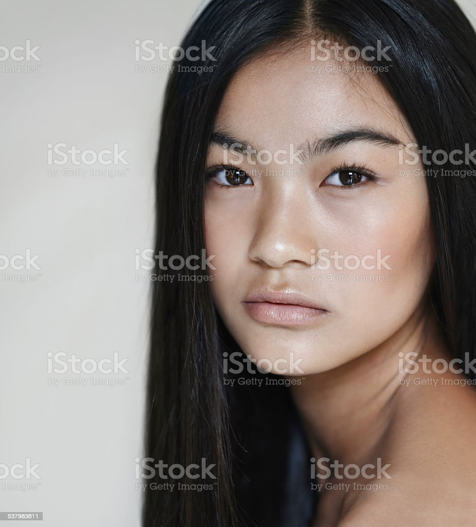 Alluring expression stock photo