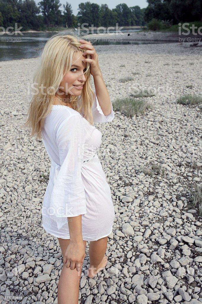 Alluring woman stock photo