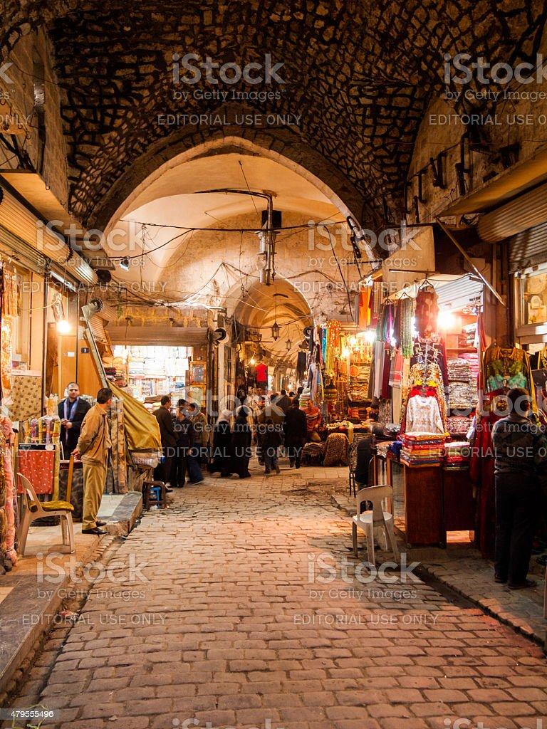 Al Madina souk dans le centre-ville d'Alep, en Syrie - Photo