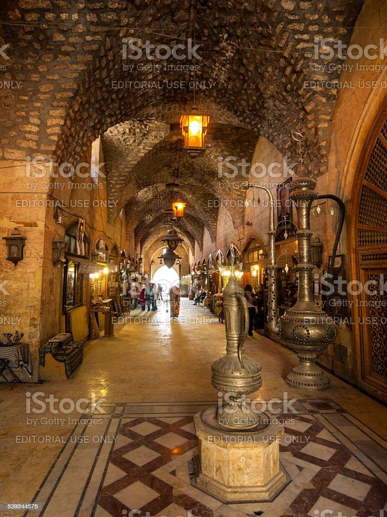 Al-Madina Souq in the centre of  Aleppo, Syria stock photo