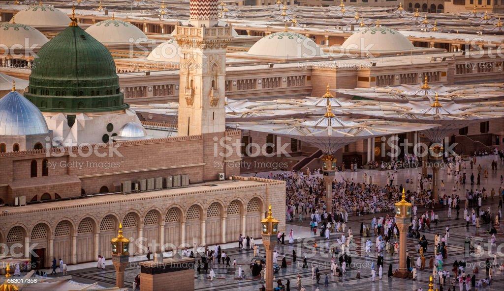 Al-Masjid an-Nabawi Al-Masjid an-Nabawi Architecture Stock Photo