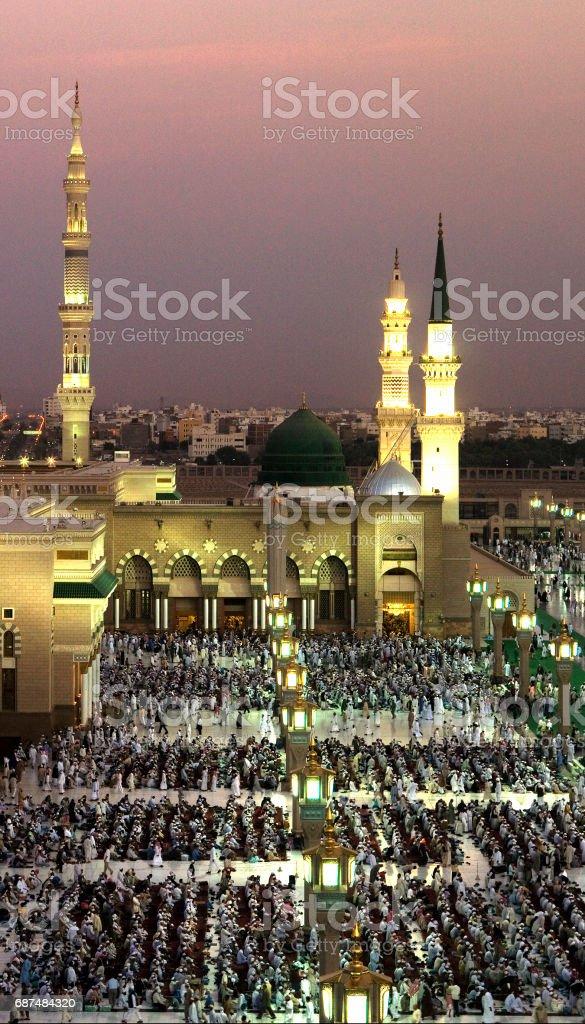 Al-Masjid An-Nabawi stock photo