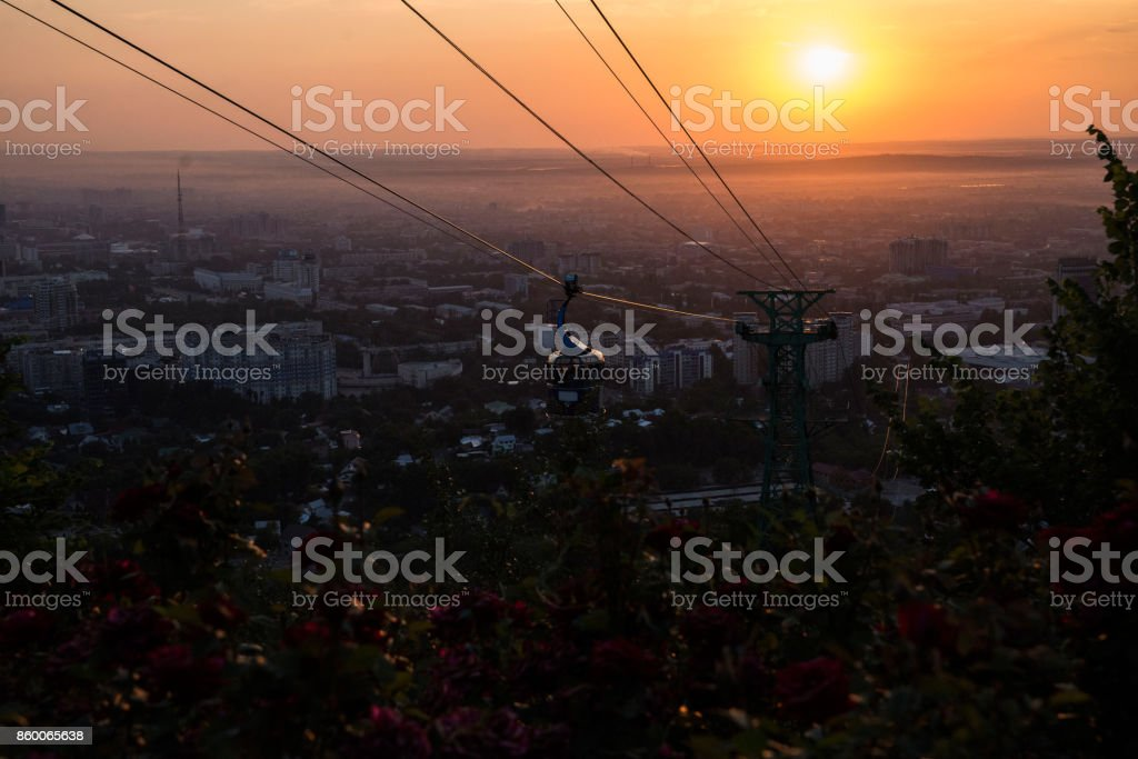 Almaty before Sunset stock photo