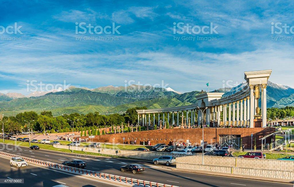 Almaty city stock photo