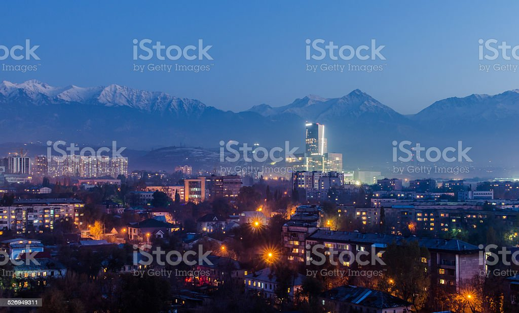 Almaty city stock photo