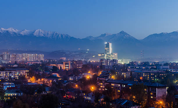 Almaty city General view of the Almaty  kazakhstan stock pictures, royalty-free photos & images