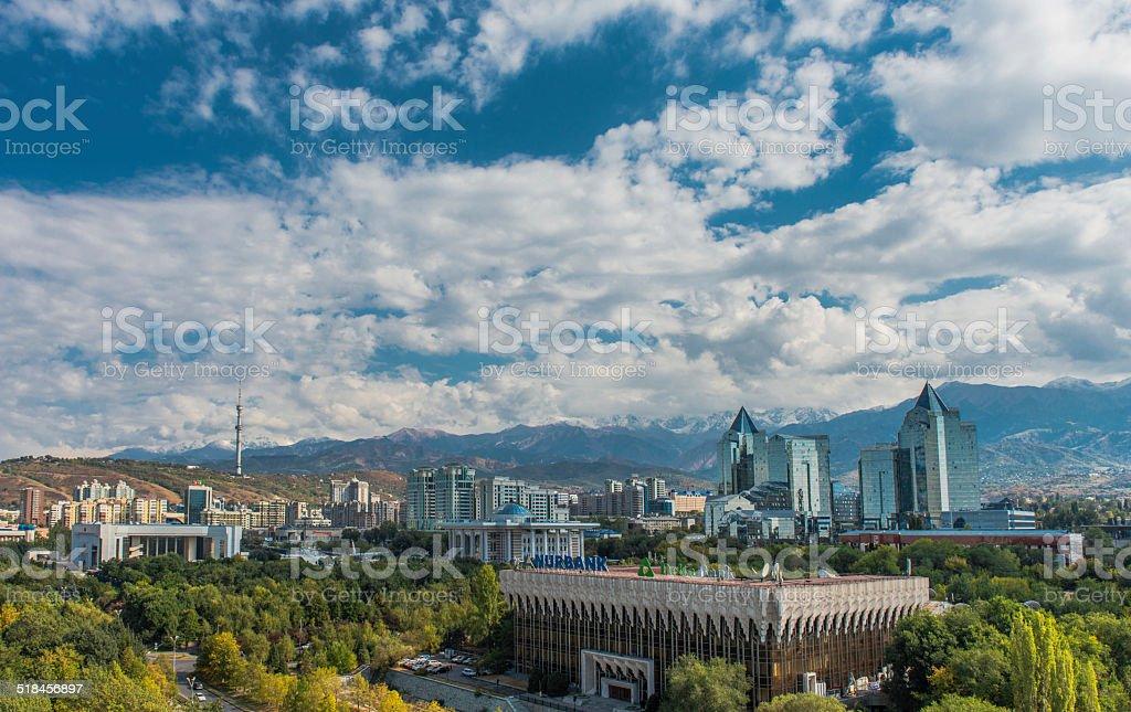 Almaty City View stock photo