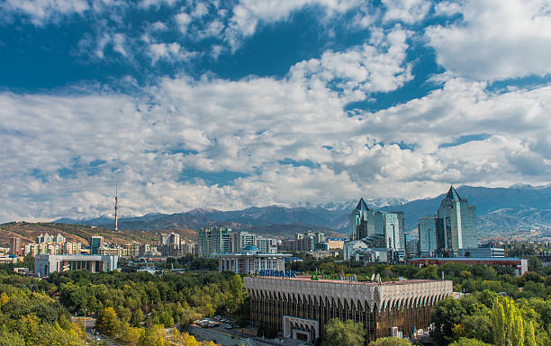 Almaty City View stock photo