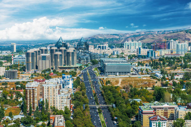 Almaty city view Almaty city, Kazakhstan? Central Asia kazakhstan stock pictures, royalty-free photos & images