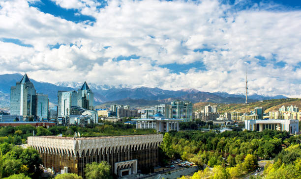 Almaty City View Almaty City View, Kazakhstan, Central Asia kazakhstan stock pictures, royalty-free photos & images