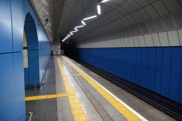almaty metro - baikonur - almaty metro wiedenmeier stock-fotos und bilder