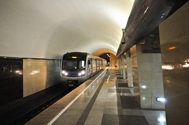 almaty metro - almaty metro wiedenmeier stock-fotos und bilder