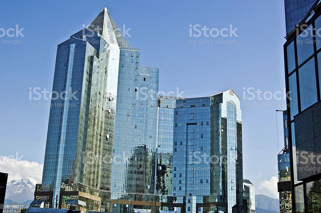 Almaty - Nurlytau stock photo