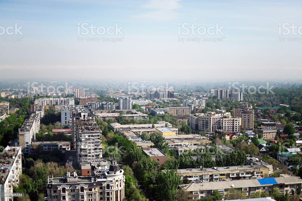 Almaty Panoramic View stock photo