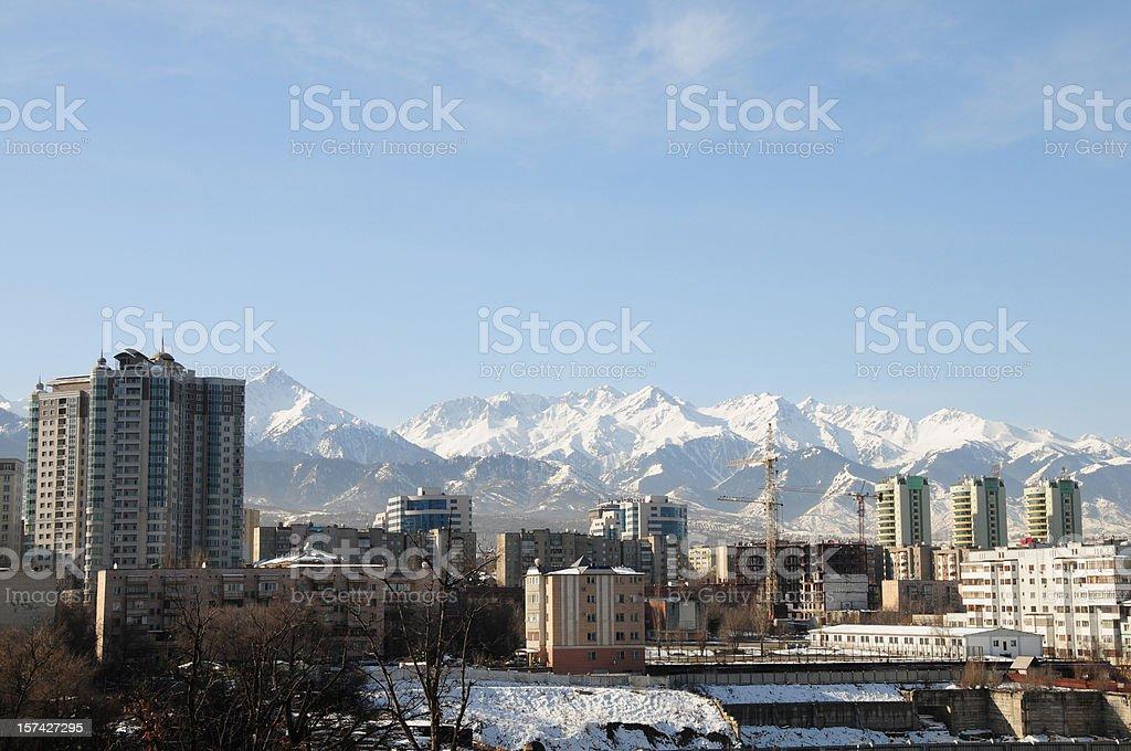 Almaty skyline royalty-free stock photo